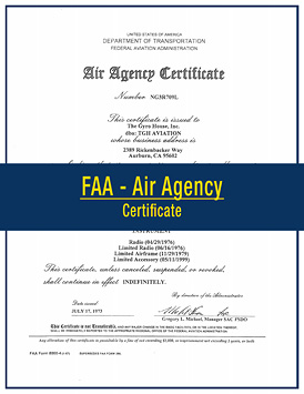 TGH Aviation FAA Air Agency Certificate