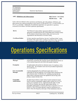 TGH Aviation Operations Specifications
